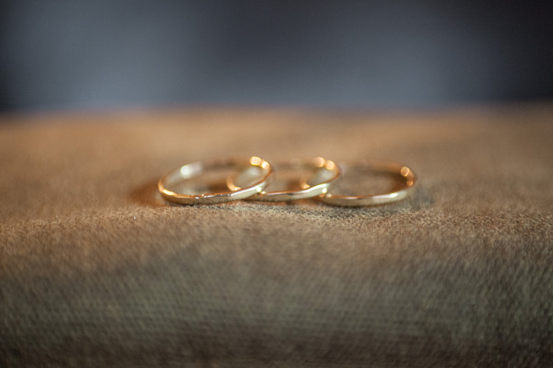 set of gold stacking rings