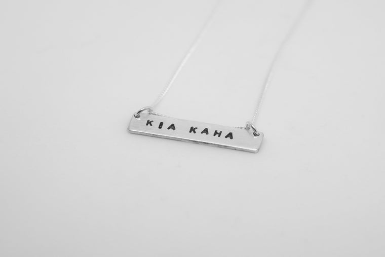 Custom Stamped Sterling Silver Necklace