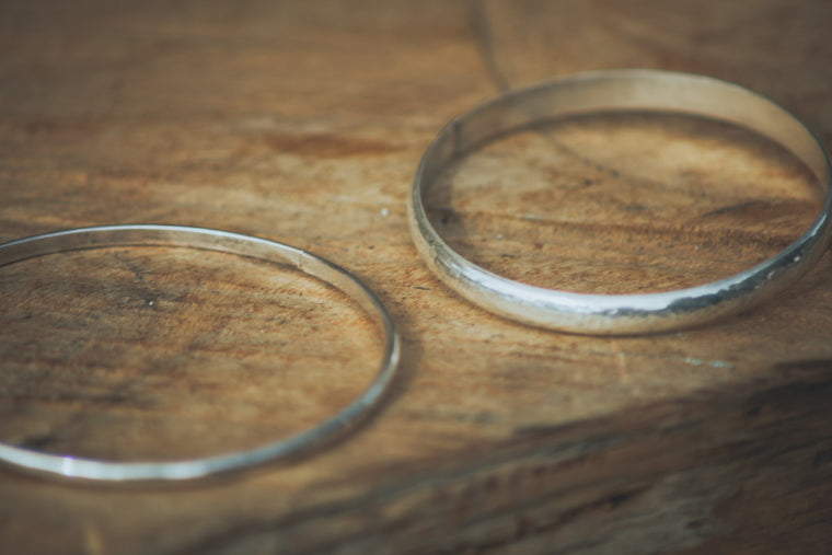 Sterling Silver Banger Bangle