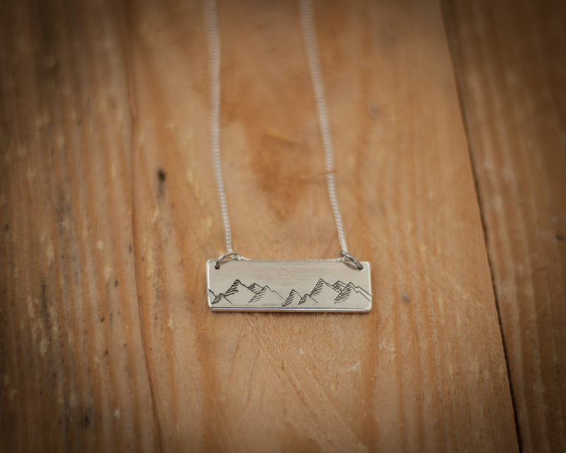 Southern Alps Mountain Range Necklace