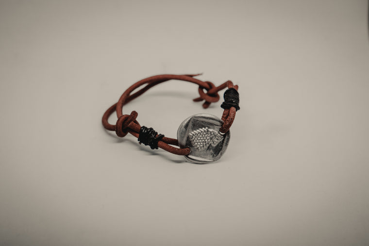 Stark House Leather Bracelet