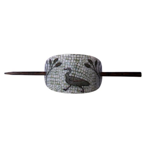 Roman Duck Mosaic Hair Slide