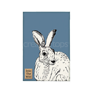 Into The Wild Hare Tea towel