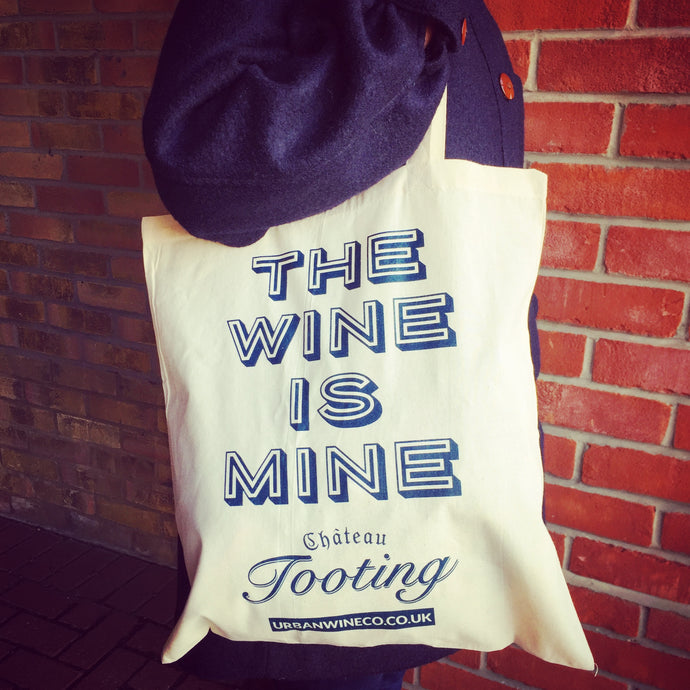 Urban Wine Company 'The Wine is Mine' Cotton Totes Bag