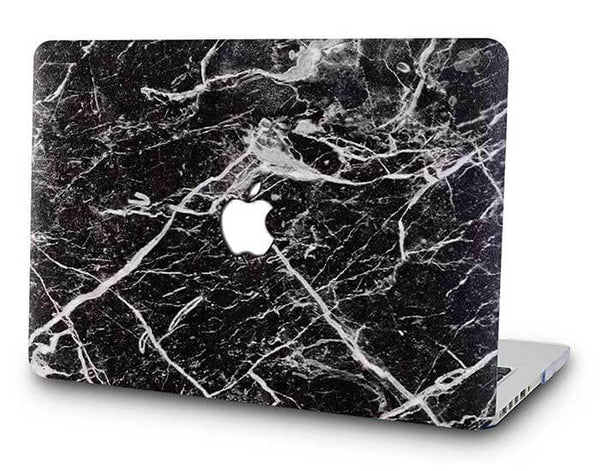Black classic marble cover til Macbook pro