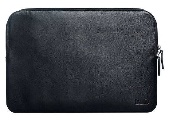 Trunk sort Læder Laptop Sleeve 13""