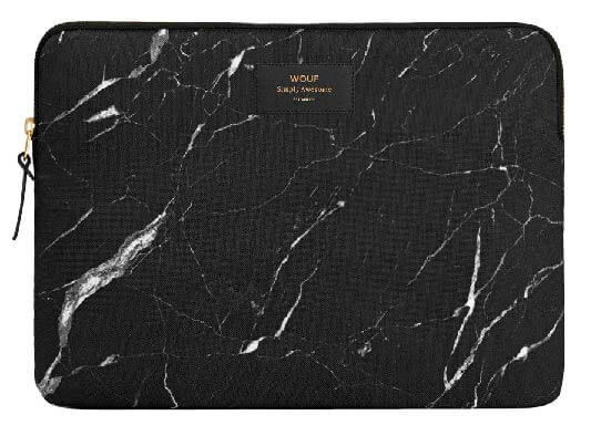 "WOUF - BLACK MARBLE 13/15"" - Laptop sleeve"