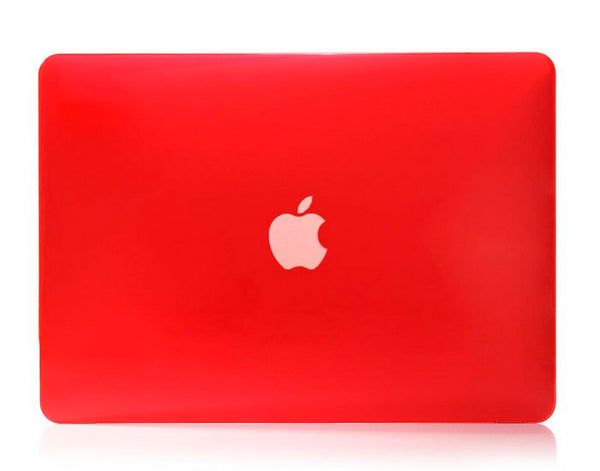 Transparent rød cover til Macbook air