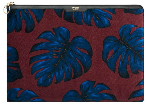 "WOUF - Leaves 13"" - Laptop velour sleeve"