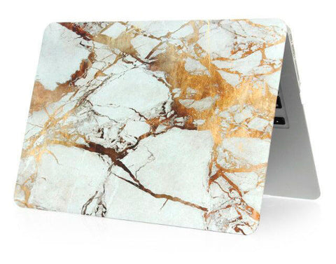 Marmor golden sky cover til Macbook air