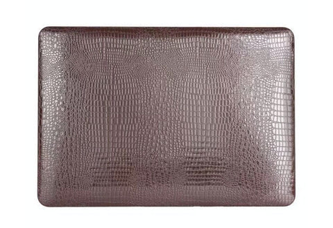 Snake skin MacBook Air cover Brun