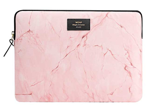 "WOUF - PINK MARBLE 13"" - LAPTOP SLEEVE"