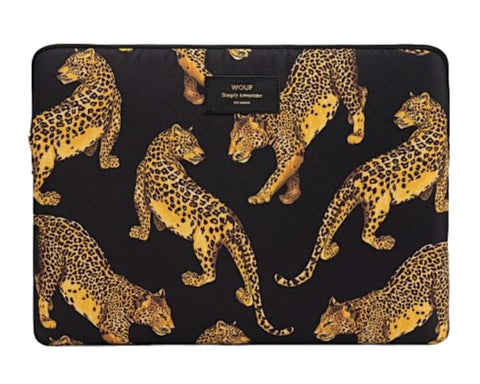 "WOUF - BLACK LEOPARD 13"" - LAPTOP SLEEVE"