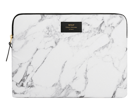 "WOUF - WHITE MARBLE 13"" - LAPTOP SLEEVE"