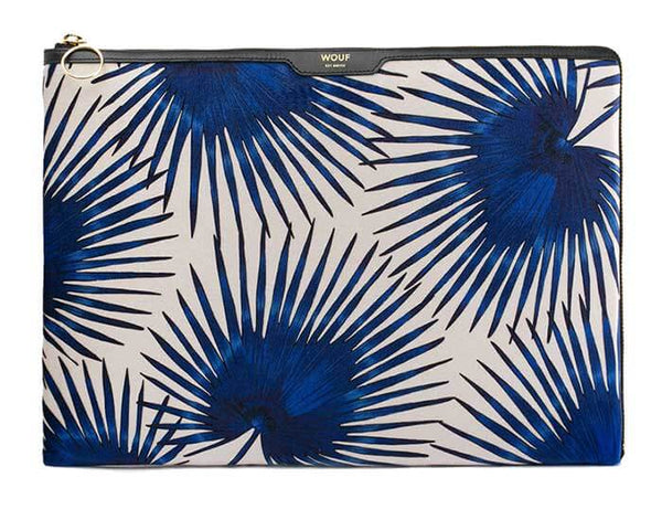 "WOOUF - Blue Palms 13"" - LAPTOP VELOUR SLEEVE"
