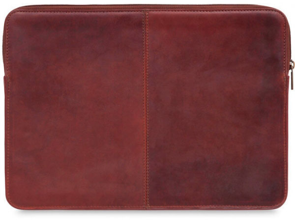 Knomo Leather Sleeve brun 12 & 13