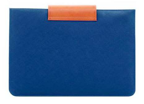 Mozo steel blue saffiano sleeve