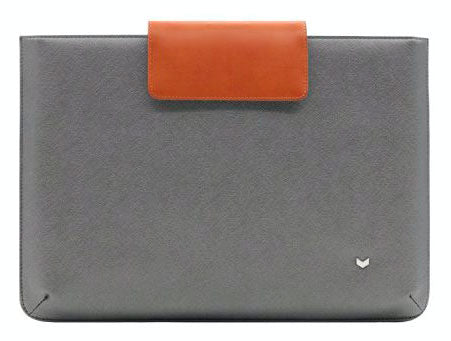 Mozo steel grey saffiano sleeve