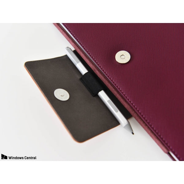 Mozo steel red saffiano sleeve