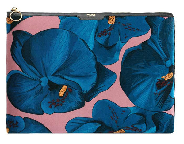 "WOOUF - ORCHIDÉE 13"" - LAPTOP VELOUR SLEEVE"