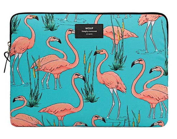 "WOUF - PINK FLAMINGOS 13"" - LAPTOP SLEEVE"