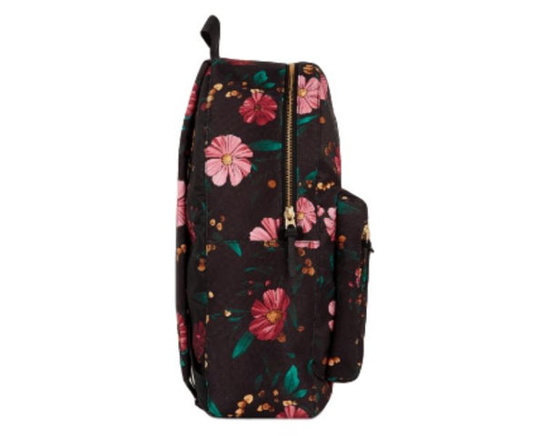 WOUF - Black Flower Backpack - Computertaske