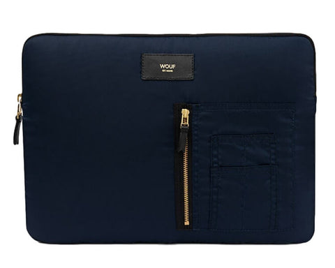 "WOUF - NAVY BOMBER 13"" - Laptop sleeve"