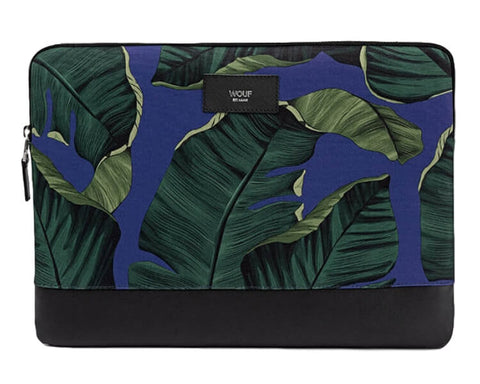 "WOUF - BLUE LEAVES 13"" - Laptop sleeve"