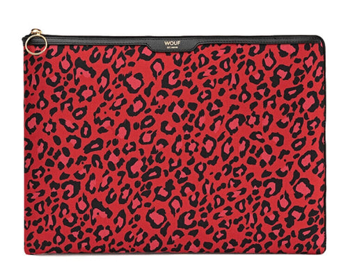 "WOUF - RED LEOPARD 13"" - Laptop sleeve"