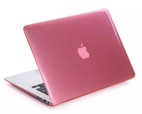 Glossy transparent pink cover til Macbook Pro