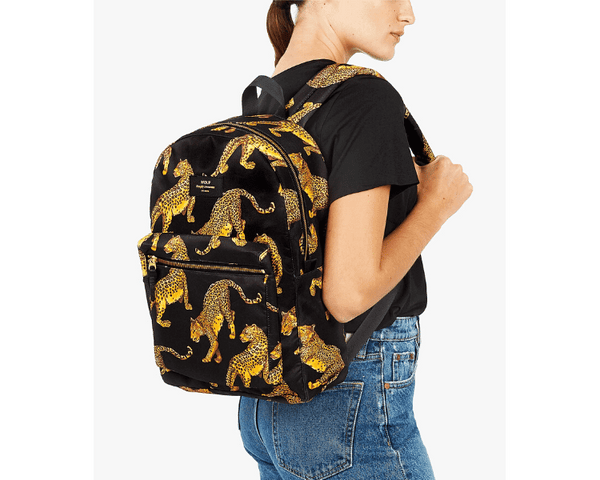 WOUF - Black Leopard Backpack - Computertaske