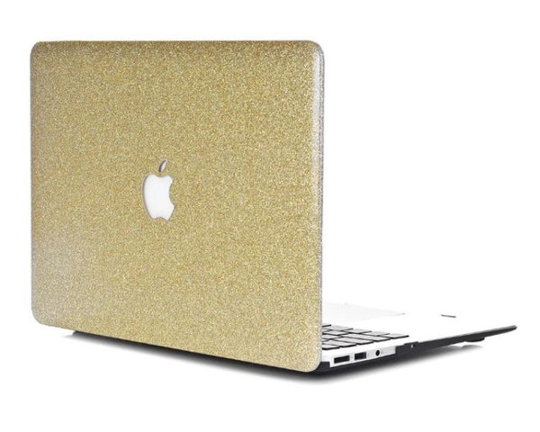 Guld glimmer cover til Macbook air