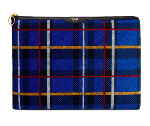 "WOUF - Blue Tartan 13"" - Laptop sleeve"