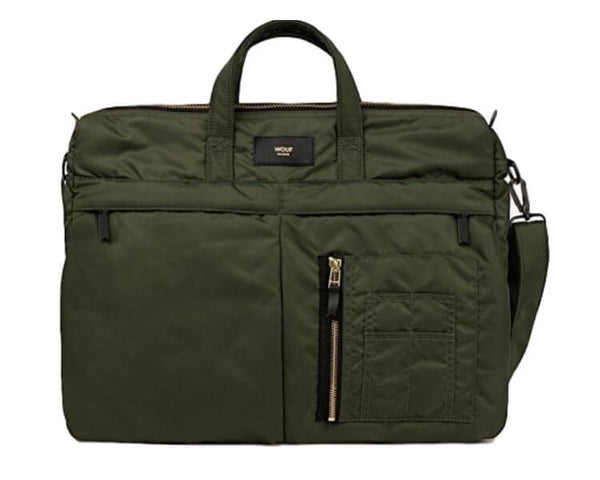 WOUF computertaske - camo bomber messenger bag