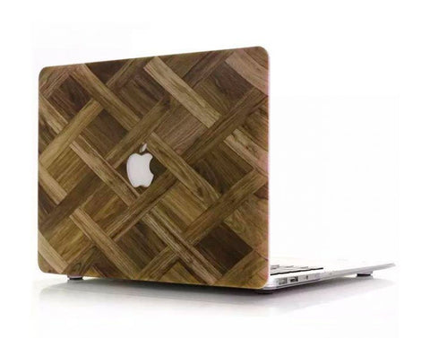 Wood wall MacBook air 13 cover