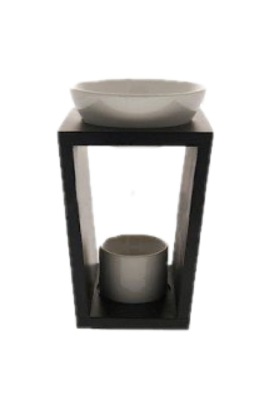 Wooden Warmer/Oil Burner (Matt Black)