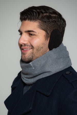 Packable Scarf with Built-in Earmuffs