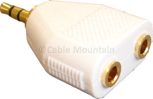 Gold Plated 3.5mm Jack to Twin 3.5mm Jack Adaptor