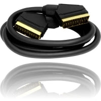 24k Gold Plated 21 Pin RGB Scart Cable - Black