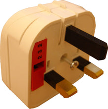 US USA CHINA JAPAN 2 Pin to UK 3 Pin Power Plug Adapter / Converter