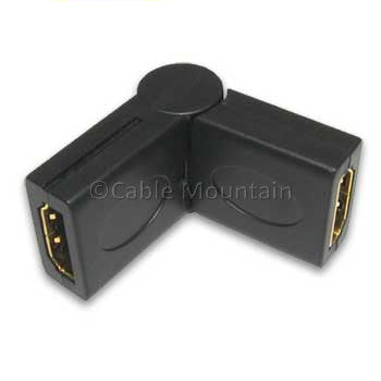 Gold Plated HDMI Swivel Adaptor - Female to Female