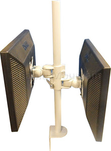 Twin Vertical LCD Monitor Desk Mount