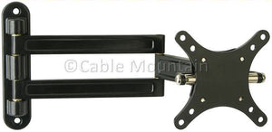 "Double Arm, Tilt & Swivel LCD TV Wall Arm for up to 22"" Screens"