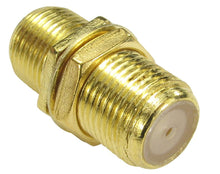 Gold Plated F-Type Cable Coupler/Connector
