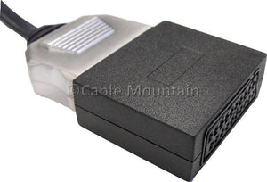 Black Scart Cable Coupler / Adapter / Gender Changer