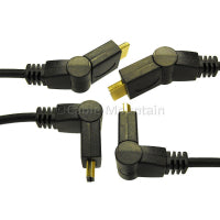 3D 4K UHD Gold Plated HDMI Cable with Swivel Heads
