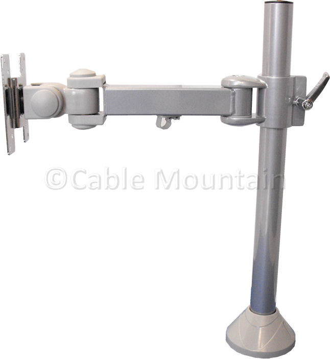 Vertical TFT TV Monitor Desk Arm - Bolt or screw Down in Silver