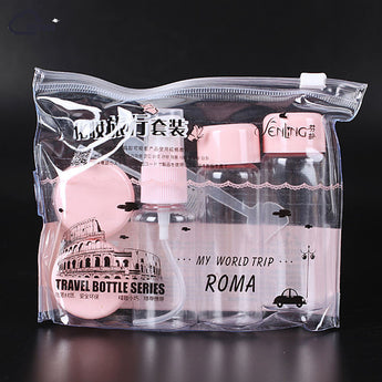 Lovely Mini 7PCs Travel Set Container Bottle