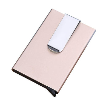 New Aluminum Slim Mini Card Protector Holder Purse Wallet