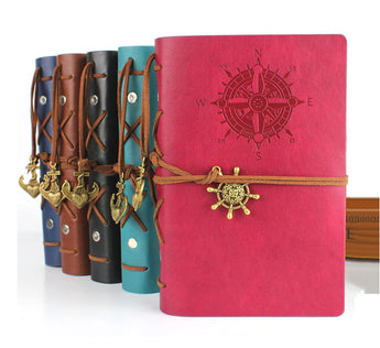 Traveler leather notebook -  travel journal diary